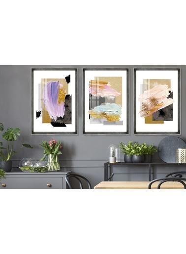 Çerçeve Home  Color Painting Inox Çerçeve Tablo Seti Füme